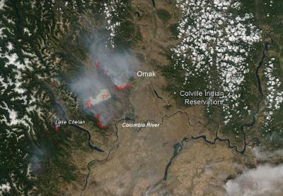 Carlton Fire Complex, Washington -- July 22, 2014