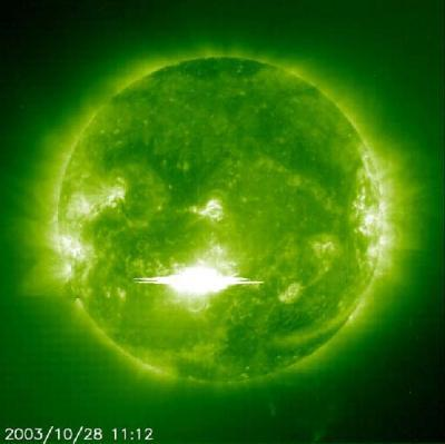 end of the world october 28,2003 - the most powerful solar flare ever measure