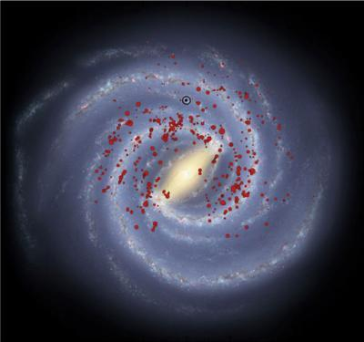 Massive stars mark out Milky Way's 'missing' arms