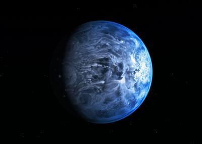 Hubble spots azure blue planet