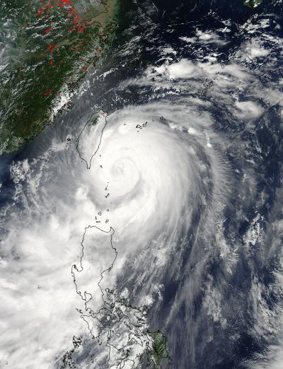 NASA provides double vision on Typhoon Matmo