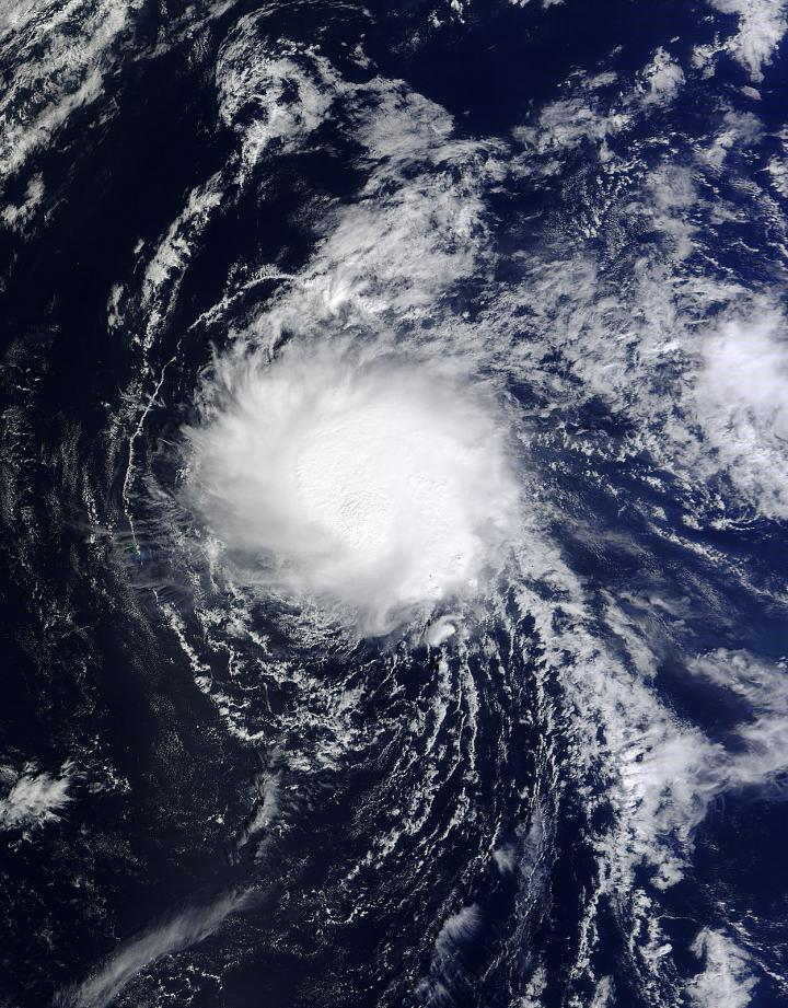 NASA's Terra satellite shows a more organized Tropical Storm Ana
