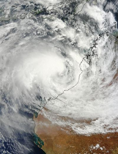 NASA sees Cyclone Rusty threatening Western Australia