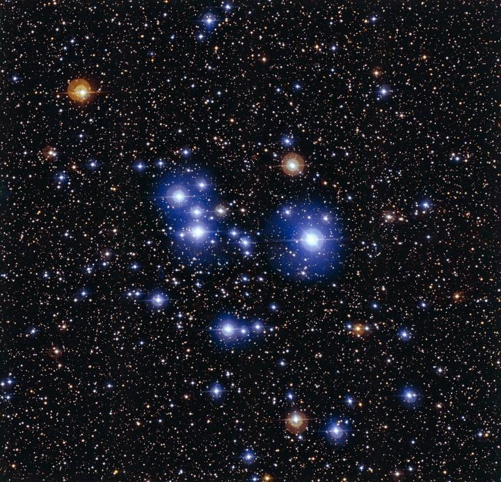 The hot blue stars of Messier 47