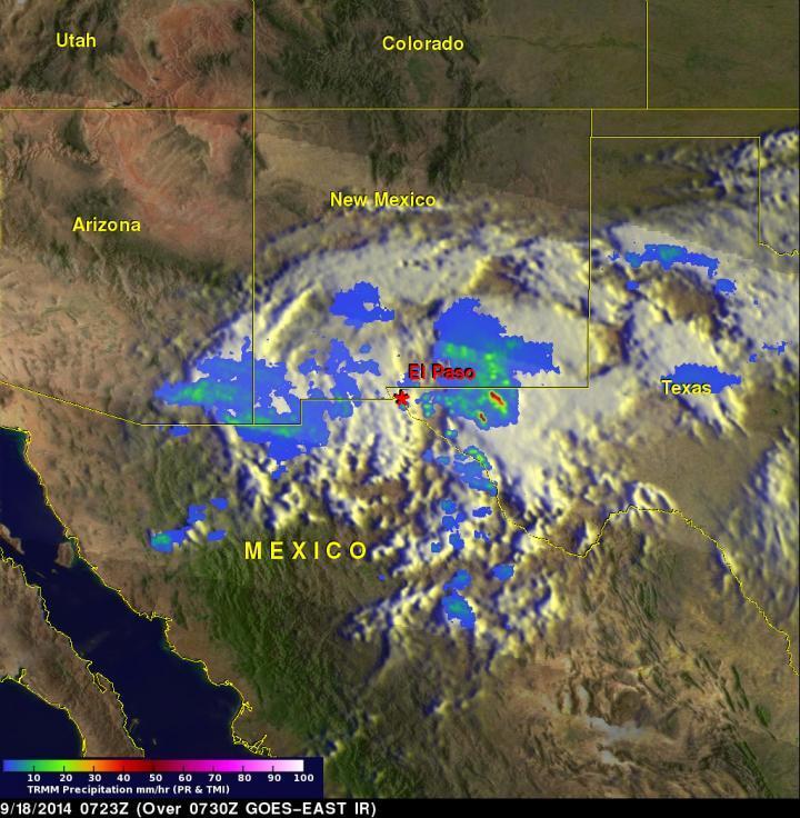 NASA, NOAA satellites show Odile's remnant romp through southern US