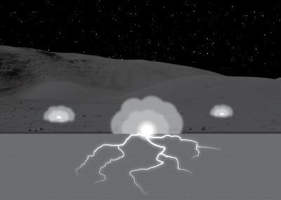 Electric sparks may alter evolution of lunar soil