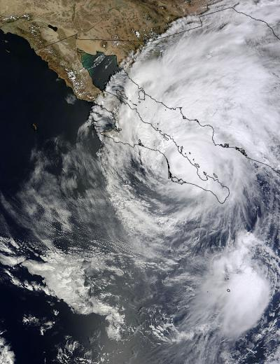 NASA sees Tropical Storm Odile knocking at US Southwest