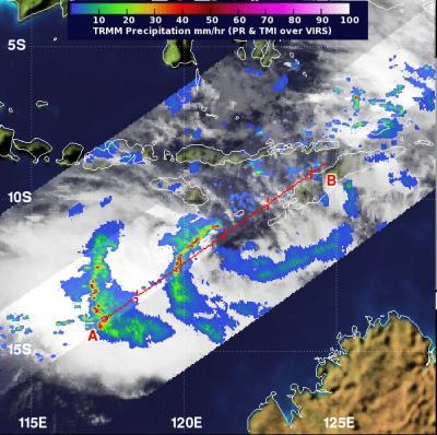 NASA sees Tropical Cyclone Narelle form in Southern Indian Ocean
