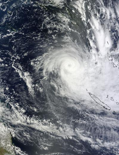 NASA satellites saw Cyclone Freda's widening eye