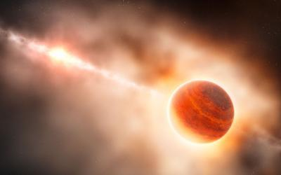 Is HD 100546 showing us the birth of a giant planet?
