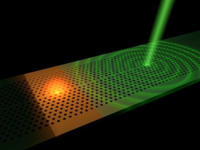 Ultrafast remote switching of light emission