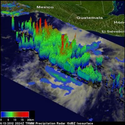 NASA sees intensifying Hurricane Carlotta threatening Mexico