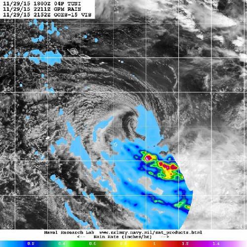 NASA sees Tropical Cyclone Tuni becomes extra-tropical