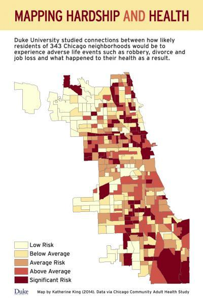 Poor neighborhoods create misfortune, ill health
