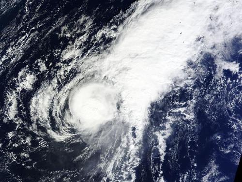 NASA sees small Tropical Storm In-fa becoming extra-tropical