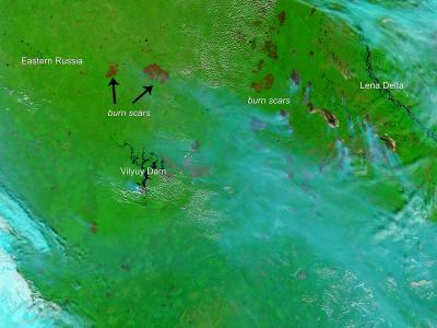 Burn scars in Eastern Russia