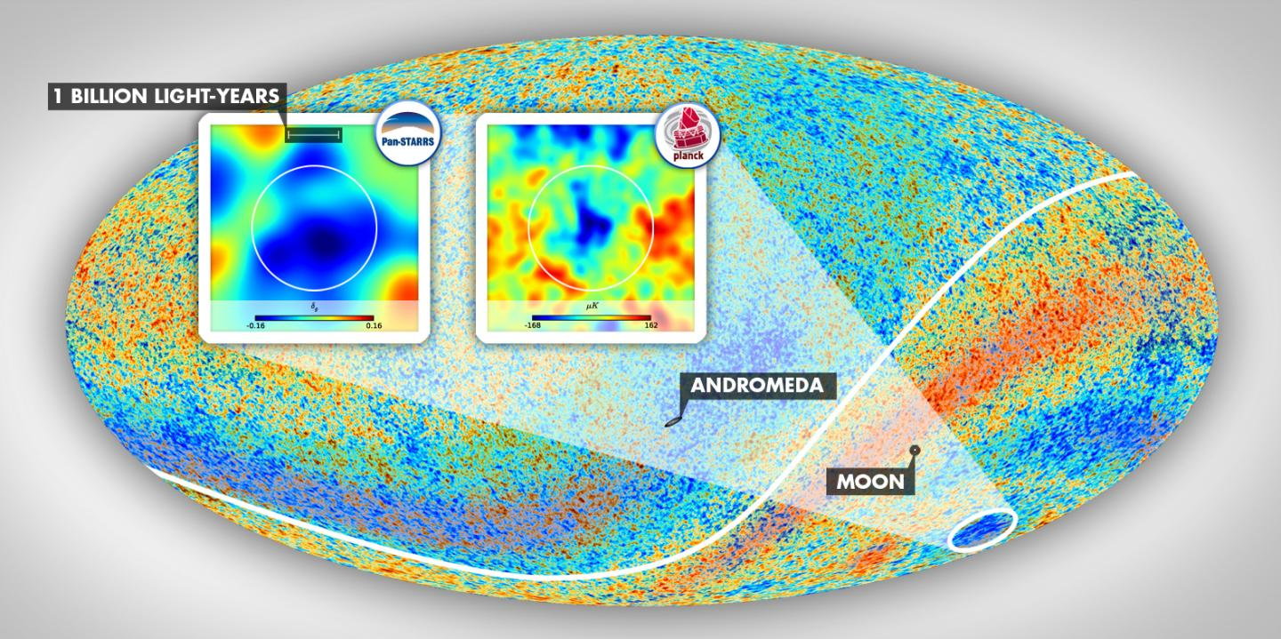 Constellation Eridanus and a cold spot in the cosmic microwave background